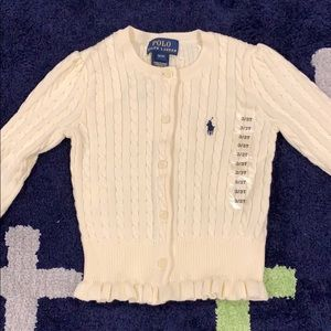 Polo RL white cardigan NEW